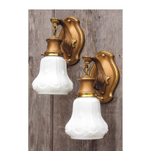 L14326 - Pair of Antique Colonial Revival Sconces