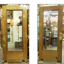 "D14201 - Single Antique Exterior Full Light Door 36"" x 83-1/4"""