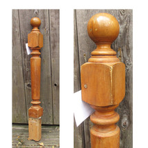 S14054 - Antique Late Victorian Birch Newel Post