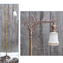 L14236 - Antique Tudor Revival Bridge Lamp