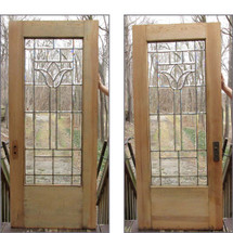 "D15011 - Single Antique Full Light Exterior Door 36"" x 84-1/2"""