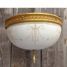 L15073 - Antique Colonial Revival Flush Mount Bowl Fixture