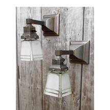 L15079 - Pair of Antique Arts and Crafts Sconces