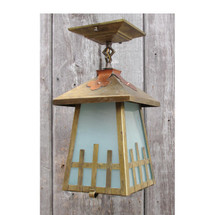 L15207 - Antique Brass & Copper Arts & Crafts Lantern Fixture