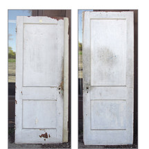 "D15028 - Single Antique Interior Two Panel Door 30"" x 79-3/4"""