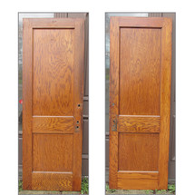 "D15036 - Single Antique Interior Two Panel Door 27-3/4"" x 79-1/2"""