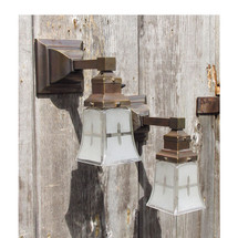 L15104 - Pair of Antique Arts and Crafts Sconces