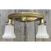 L15179 - Antique Colonial Revival Two Light Oval Flush Mount Fixture