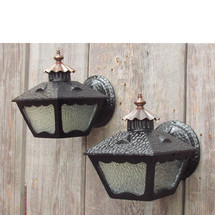 L15237 - Pair of Arts & Crafts Exterior Lantern Sconces