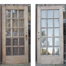 "D15152 - Single Antique Revival Period Birch Exterior French Door  36"" x 80"""