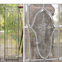 G15044 - Antique Beveled & Flat Glass Window