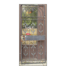 "D15169 - Vintage Wrought Iron Door - 34-1/2"" x 82-1/2"""