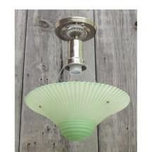 L15258 - Art Moderne Ceiling Light Fixture With Antique Bowl Shade