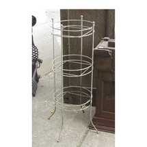 A15045 - Antique Mid Century Painted Wire Plant Stand