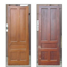 "D15173 - Single Pine & Oak Five Panel Door - 35-1/2"" x 100-1/2"""
