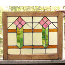 G15054 - Antique Arts and Crafts Style Window