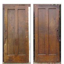 "D15210 - Single Antique Interior Two Panel Door 34"" x 79-1/4"""