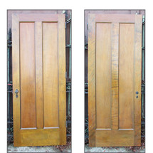 "D15223 - Single Antique Two Panel Interior Door 32"" x 80"""