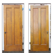 "D15224 - Single Antique Two Panel Interior Door 32"" x 79-1/4"""