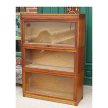 F15130 - Antique Oak Stacking Barrister Bookcase