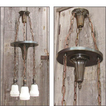 L15344 - Antique Sheffield Style Three Light Fixture
