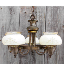L16006 - Antique Art Moderne Five Light Fixture
