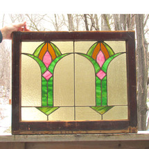 G16005 - Antique Arts & Crafts Stained Glass Window