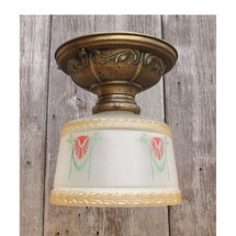 L16039 - Antique Revival Period Flush Mount Fixture