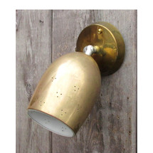L16045 - Vintage Brass Mid Century Flush Mount Rotating Ceiling or Wall Fixture