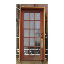 "D16010 - Single Antique Oak Exterior French Door In Jamb 36"" x 79-1/2"""