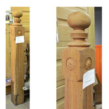 S16005 - Antique Cherry Newel Post