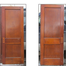 "D16021 - Single Antique Two Panel Door 30"" x 79-1/4"""