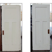 "D16023 - Single Antique Three Panel Door 30""x 79-1/2"""
