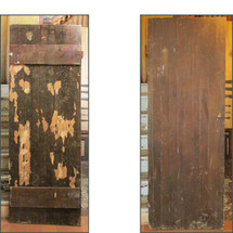 "D16039 - Antique Solid Walnut Plank Barn Door  27-3/4"" x 76-3/4"""