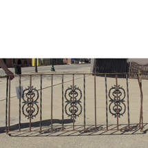 S16010 - Vintage Wrought & Cast Iron Balcony Rail
