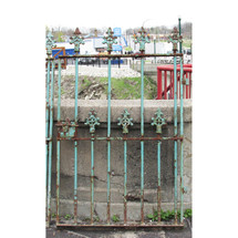 S16015 - Antique Victorian Wrought and Cast Iron Fence Section