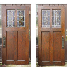 "D16051 - Single Antique Tudor Oak Interior Door 36"" x 80"""
