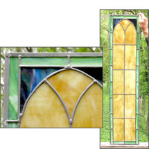 G16026 - Stained Glass Gothic Style Window