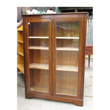 F16076 - Antique Revival Period Oak Bookcase