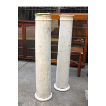 S16018 - Pair of Antique Colonial Revival Half Wall Porch Columns