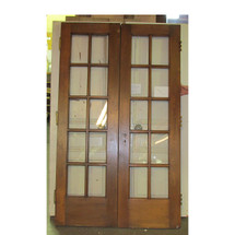 "D16064 - Pair of Antique Interior/Exterior Pine French Doors 47-3/4"" x 79-3/4"""