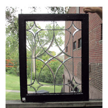 G16046 - Antique Revival Period Beveled Glass Window