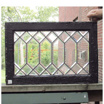 G16047 - Antique Arts and Crafts Beveled Glass Window