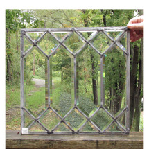 G16051 - Antique Arts and Crafts Beveled Glass Window