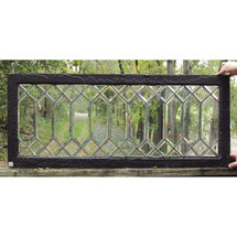 G16052 - Antique Arts and Crafts Beveled Glass Window