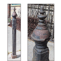 S16026 - Late Victorian Cast Iron Fence Post