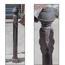 S16027 - Late Victorian Cast Iron Fence Post