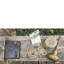 H16008 - Antique Revival Period Cast Brass Interior Passage Set
