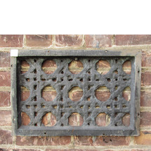 S16029 - Antique Revival Period Cast Iron Wall Mounted Air Grate