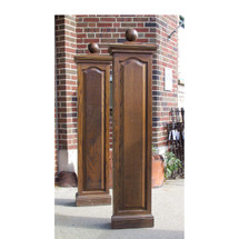 S16030 - Pair of Oversized Vintage Oak Rectangular Newel Posts